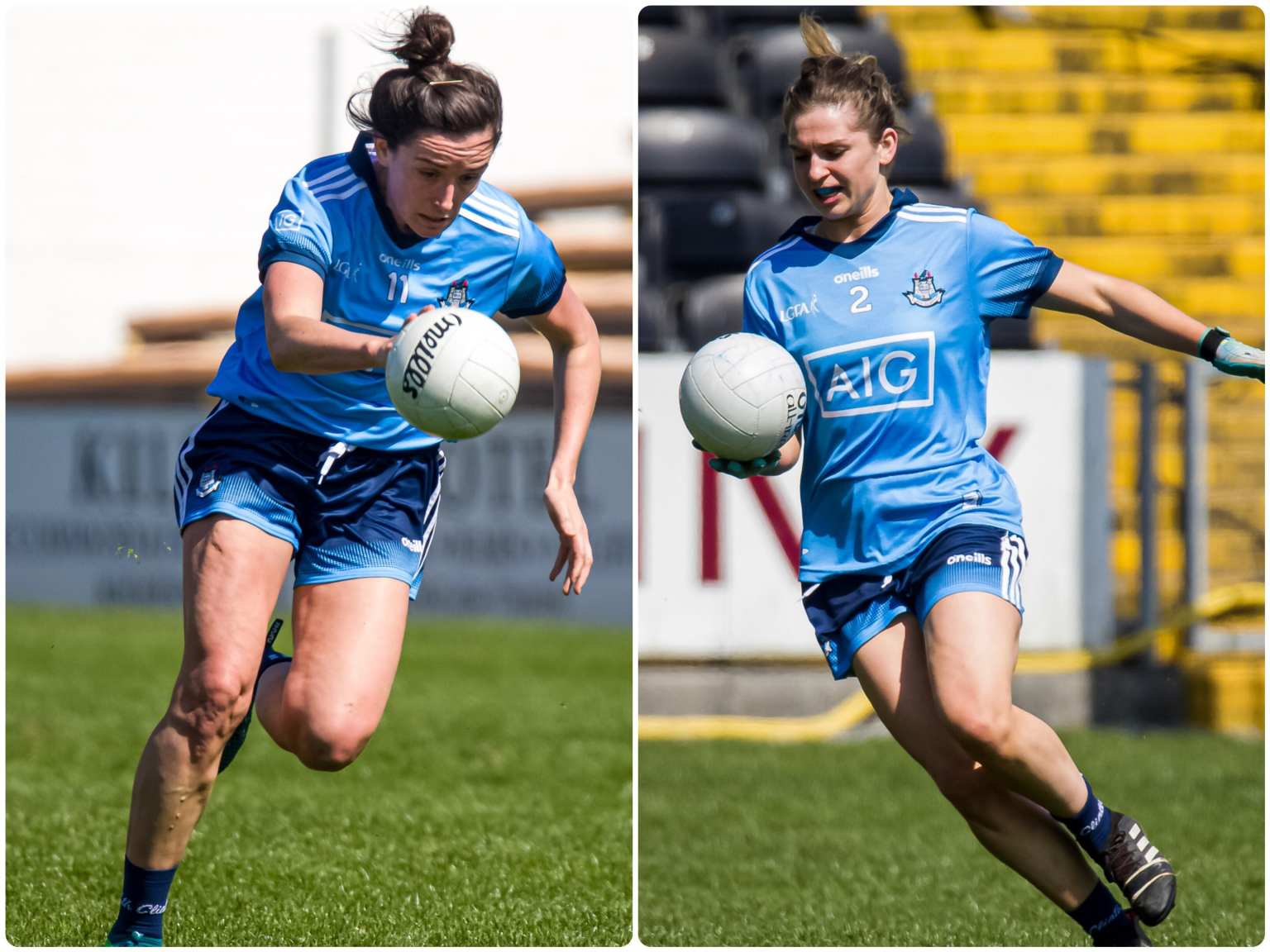 Two Dublin Ladies Footballers in action during the Lidl Ladies National Football League Semi Final, both players, Niamh McEvoy and Martha Byrne were Named On the 2019 Lidl Ladies National Football League Division 1 team