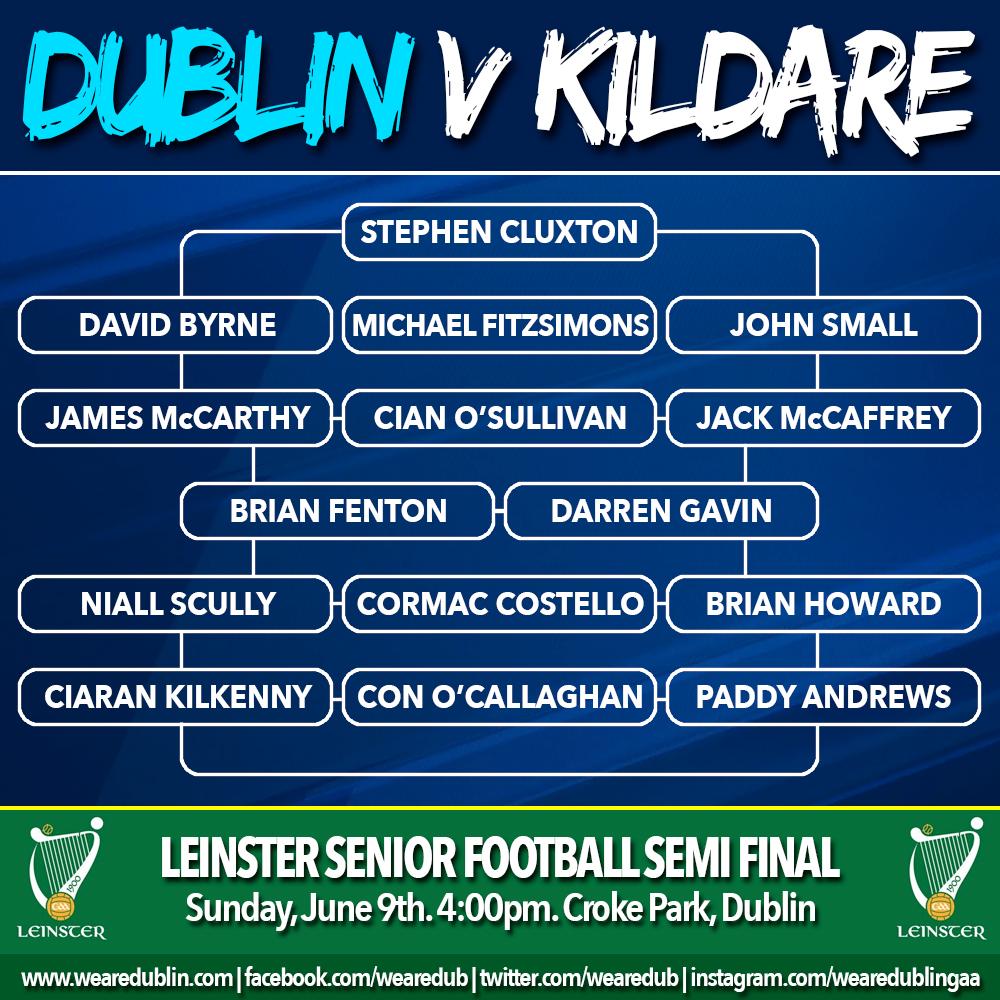 Kildare face Dublin in today's Leinster Football Semi Final
