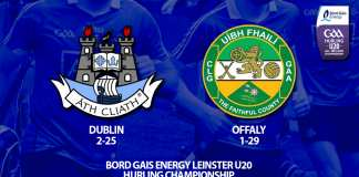 Dublin U20 Hurlers - Quarter Final loss to Offaly in Leinster