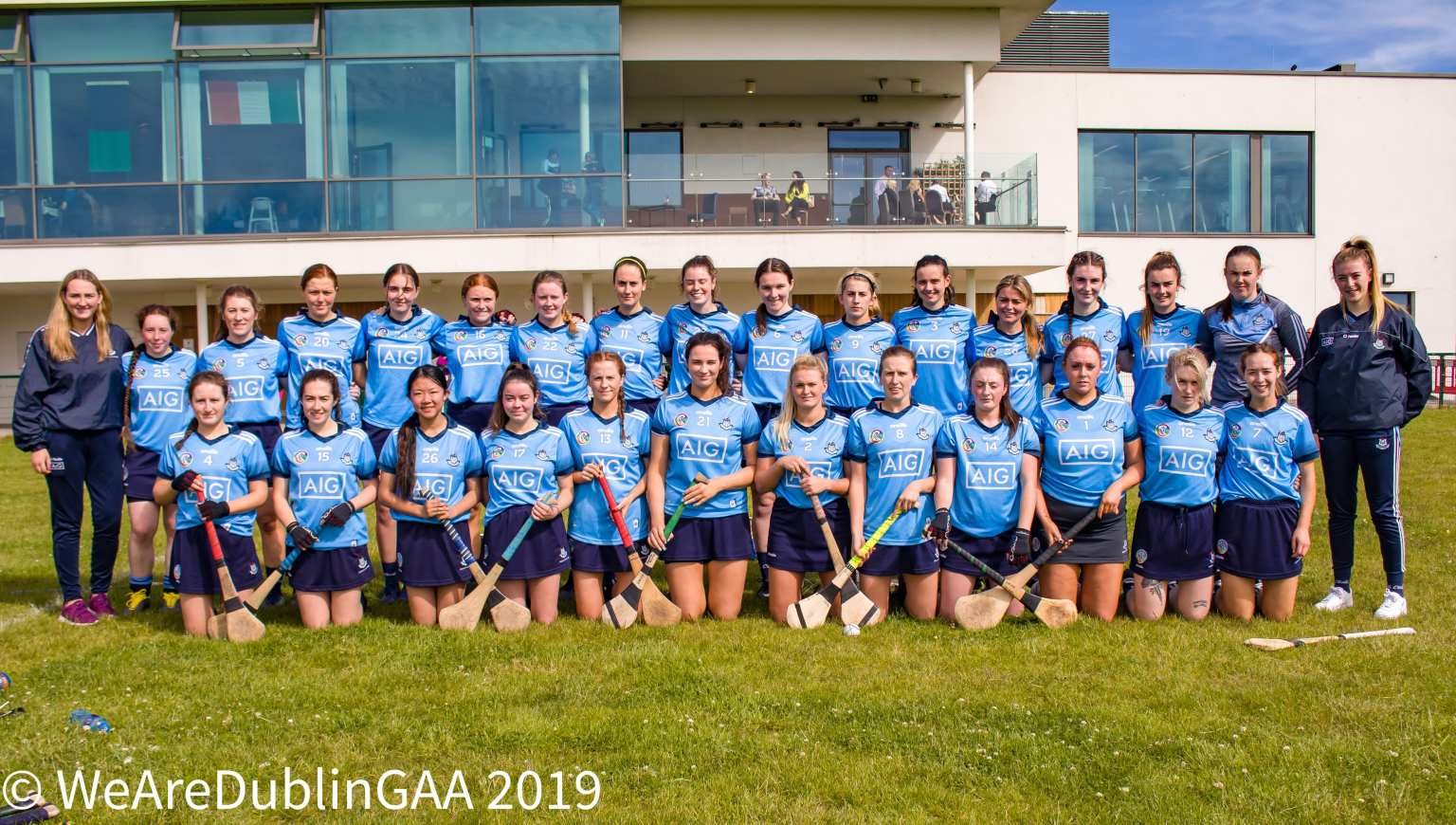 Dublin Intermediate Camogie Squad pictured before their All Ireland championship game in which Kilkenny's Katie Nolan was the star of the show in defeating Dublin.