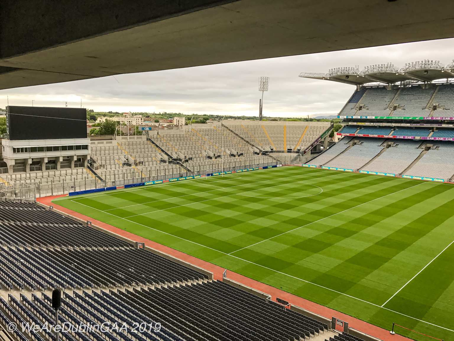 Hill 16 in Croke Park where just 30,000 to 35,000 supporters are expected in GAA headquarters for the Leinster Championship Semi Final double header as Leinster Senior Football championship attendances continue to fall
