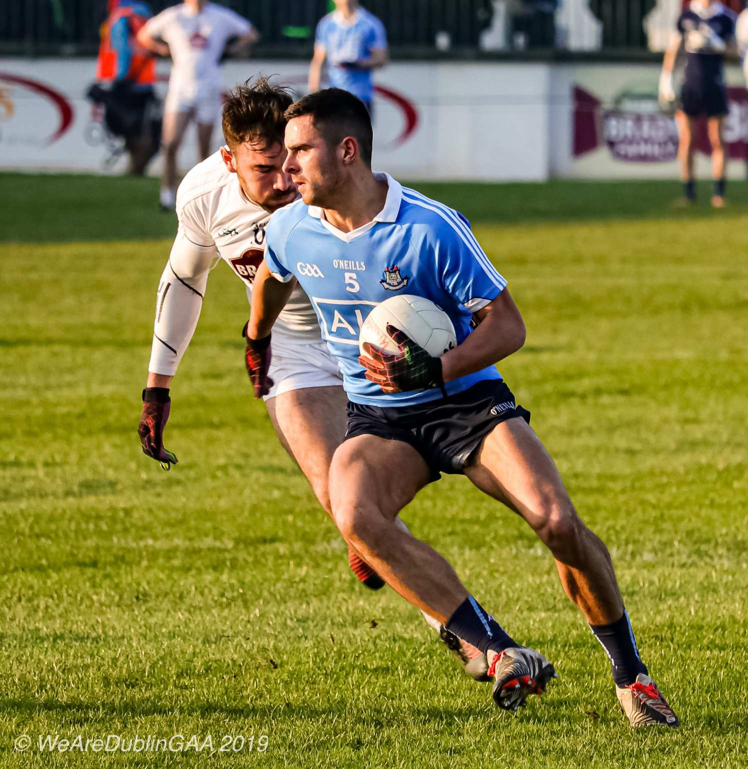 Dublin footballer Niall Scully in action against Kildare who Dublin face in the 2019 Leinster SFC Semi Final, Kildare manager Cian O'Neill insists his side are heading to Croke Park to win.