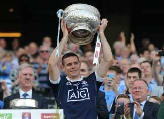 Leinster Football Final 2017 - Stephen Cluxton Lifts The Delaney Cup
