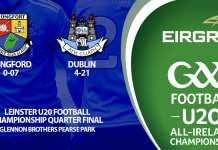 U20 Footballers - Leinster Quarter Final
