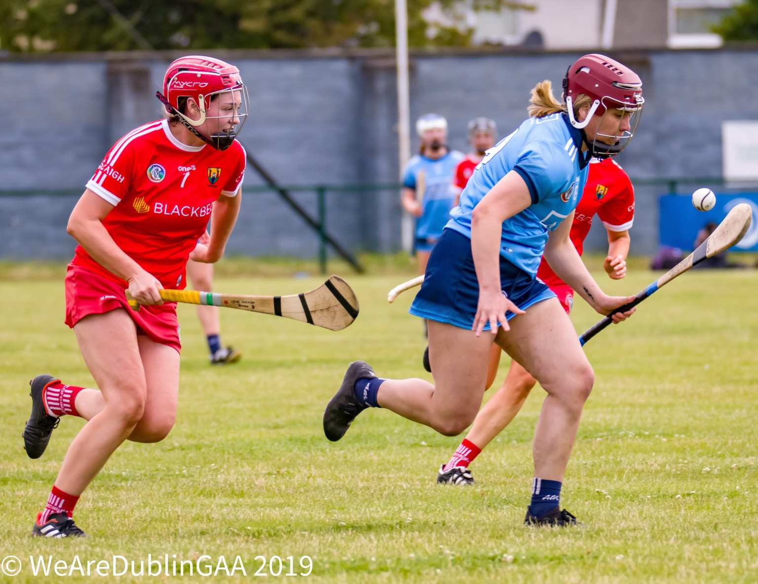 Dublin Camogie player Aoibhe Dillon In Action against All ireland Champions Cork