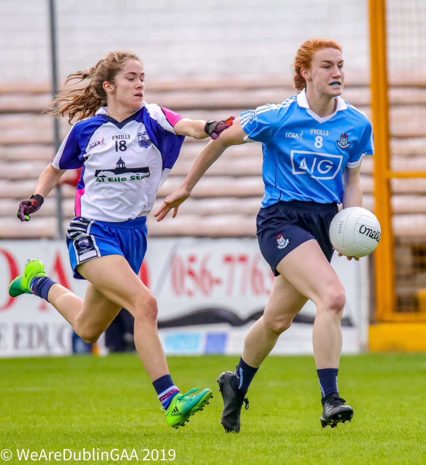 Dublin's Lauren Magee gets away from a Waterford player in their game in 2017, the Dublin Ladies Footballers fave off against the same opposition this weekend in their opening group game of the TG4 Senior All Ireland series