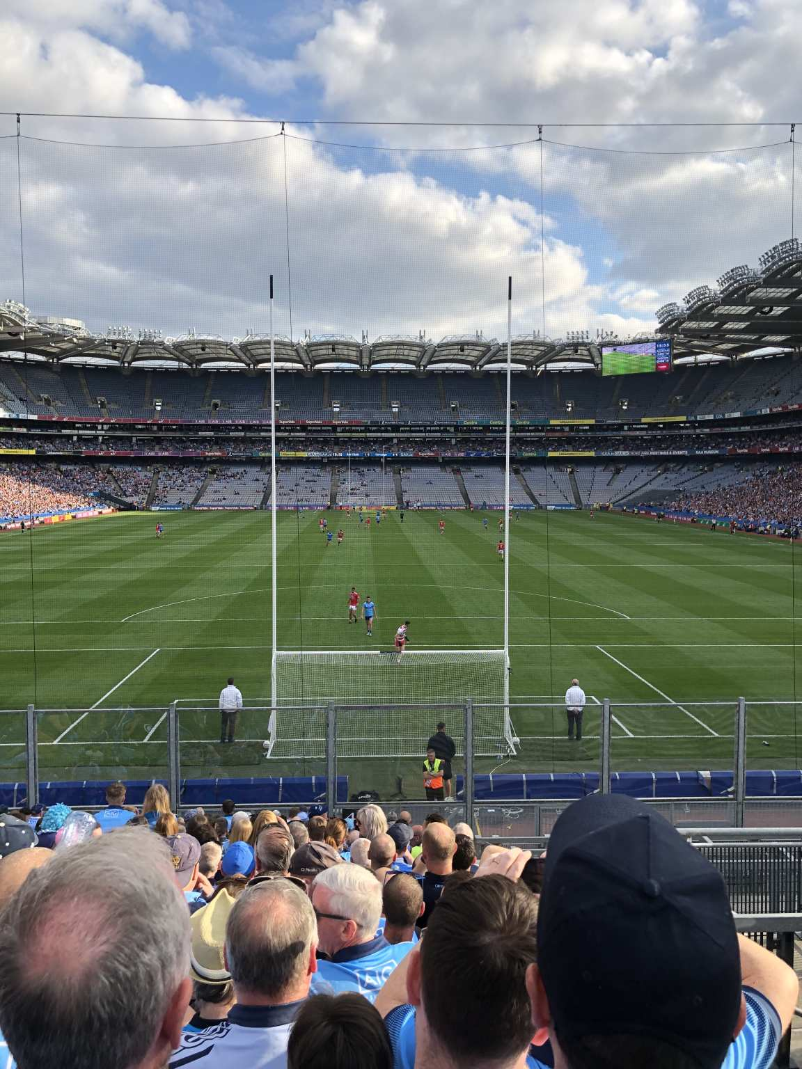Image of the Crone Park pitch from Hill 16 at the Dublin v Cork game which Dublin won thanks to three late goals