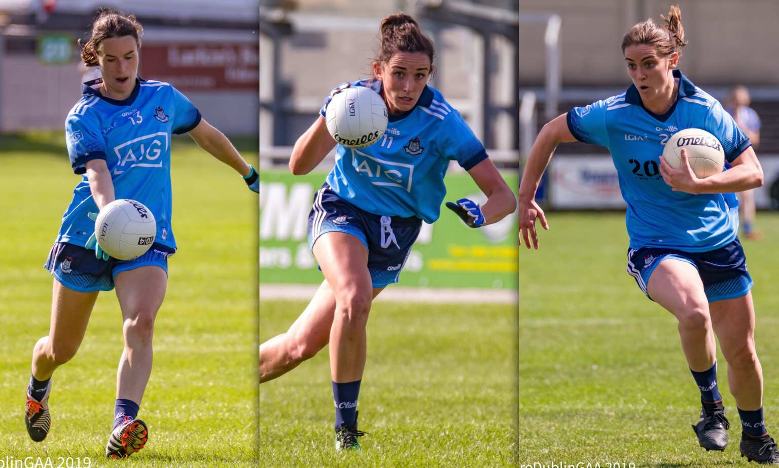 Team Captain Sinead Aherne(left), Niamh McEvoy(centre), Oonagh Whyte(right) Are the top three players on the Dublin championship top scorer leaderboard