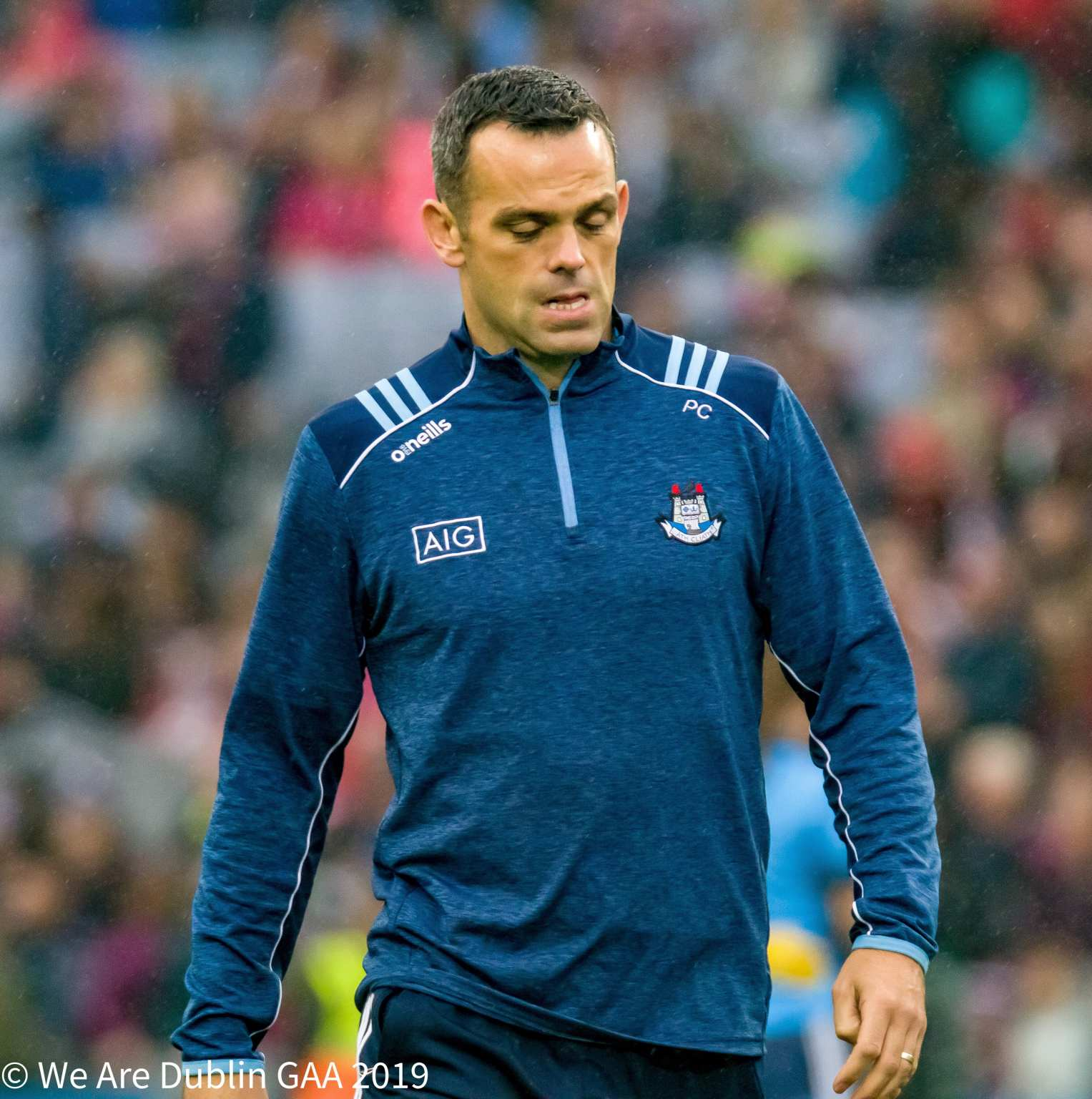Dublin coach Paul Casey on the Croke Park pitch before the All Ireland Final