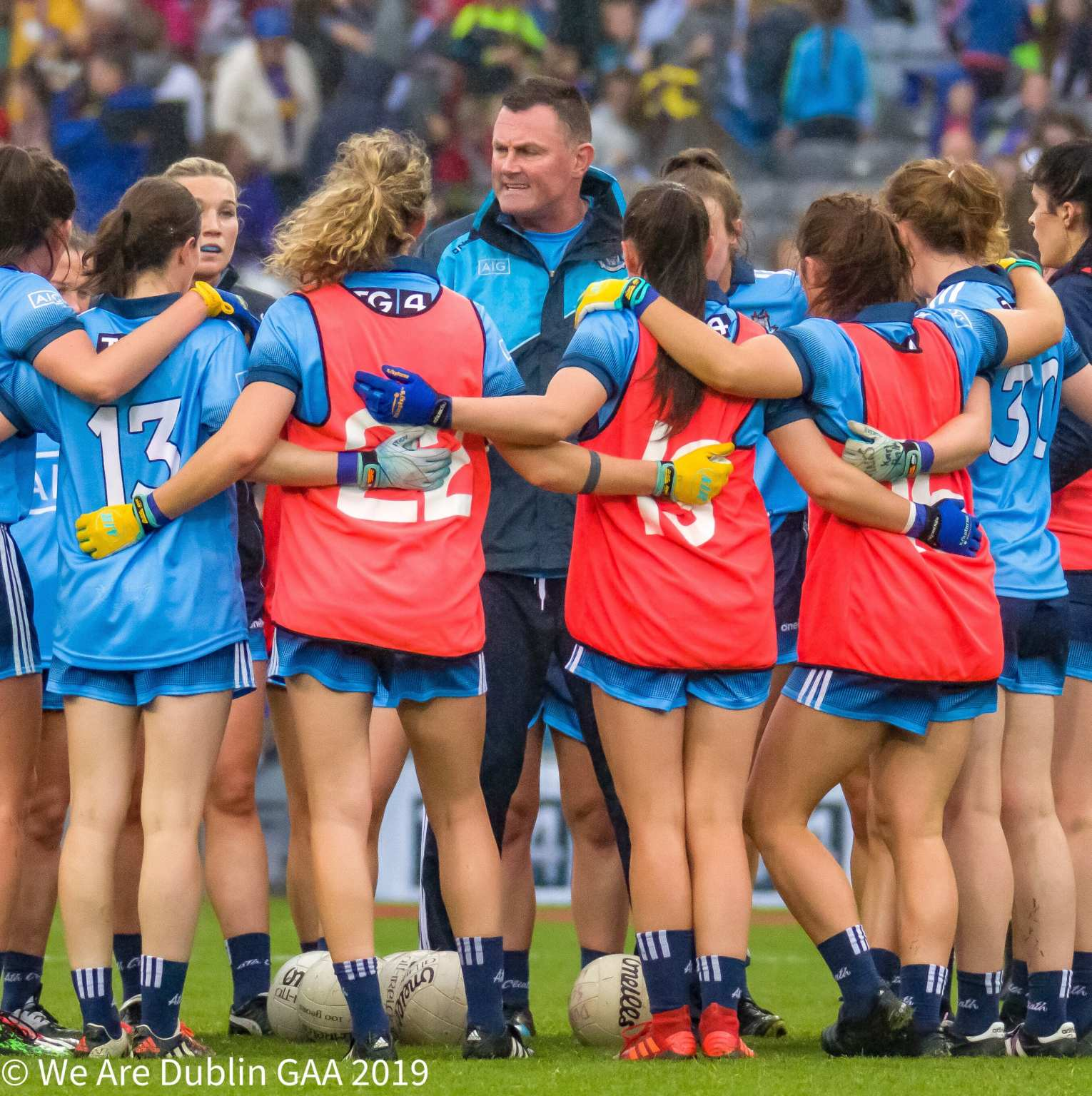 Dublin manager Mick Bohan speaking to his squad ahead of the All Ireland Final, Bohan expressed his side's experience was key to their success