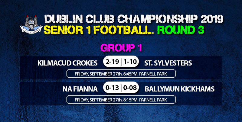 Kilmacud Crokes and Na Fianna qualify from Group 1