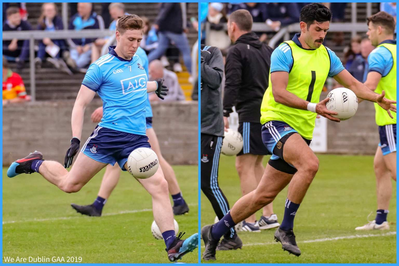 Dublin's John Small On the left and Cian O'Sullivan on the right are injury Concerns ahead of the All Ireland final replay against Kerry.