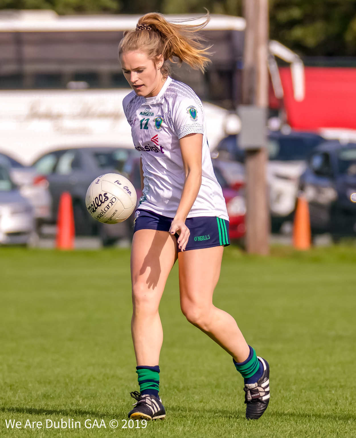 A Ladies footballer from Foxrock Cabinteely who play Sarsfields in the Leinster Senior Club Championship Final this coming Sunday.