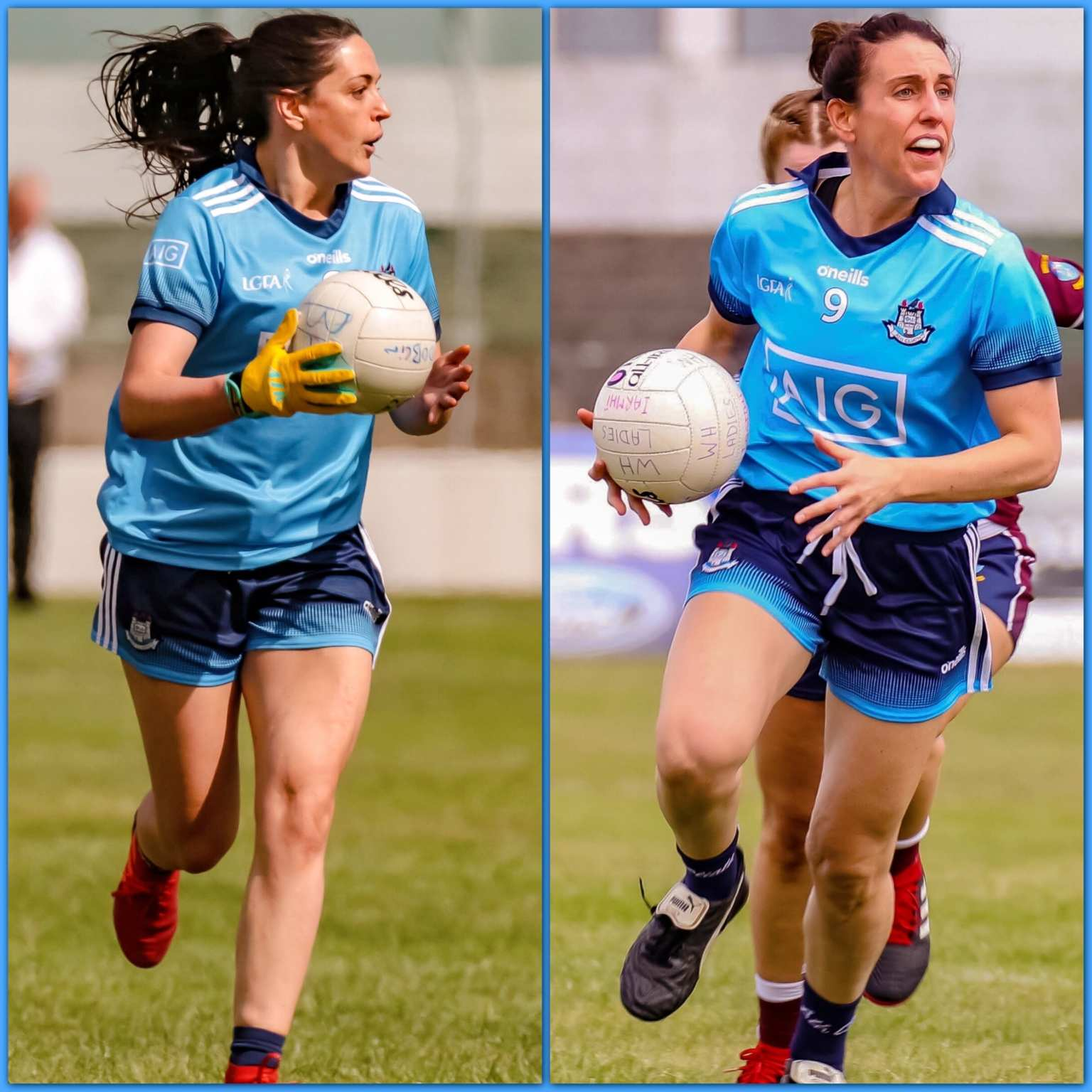 Dublin's Sinead Goldrick (L) and Siobhán McGrath (R) are among the nominees for the 2019 TG4 Players' Player Of The Year Award