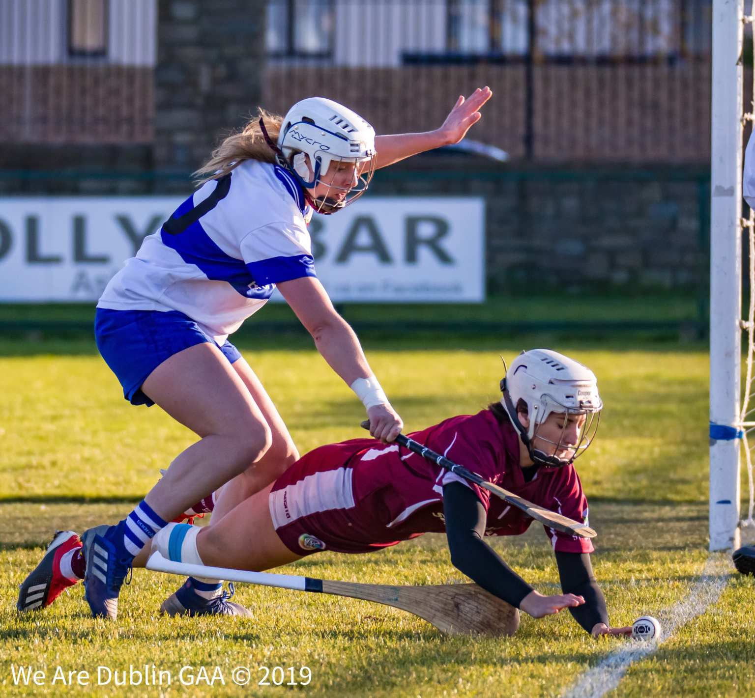 St Vincents Aisling Maher tackles St Martins goalkeeper Mags Darcy during the 2019 Leinster Senior Camogie club championship final
