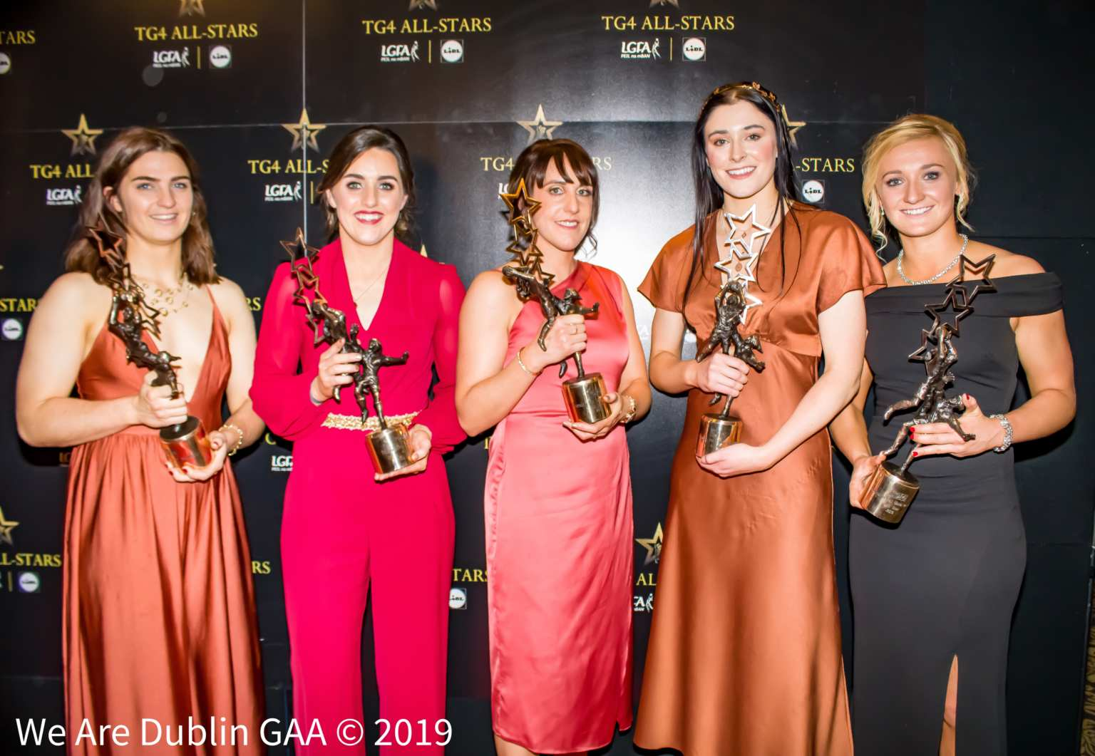 Five of Dublin's seven TG4 All Star award winners pictured at the annual TG4 All Star Awards Banquet in the CityWest Hotel.