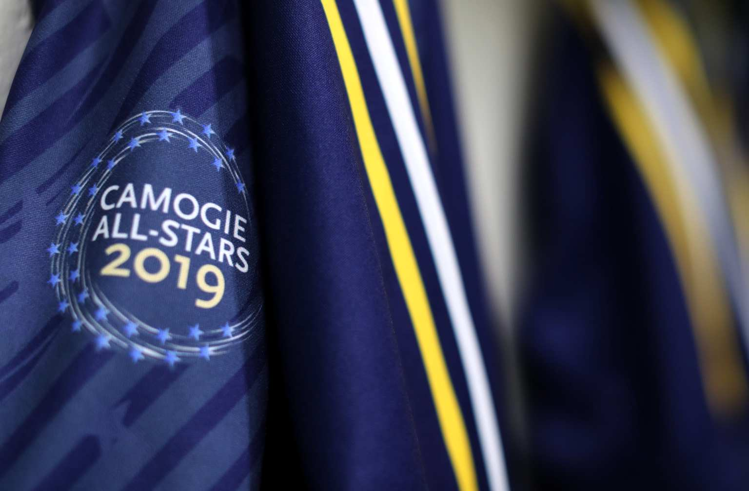 The Jersey that was used by one of the teams in the exhibition game in New York as part of the 2019 Camogie All Stars Tour to the Big Apple
