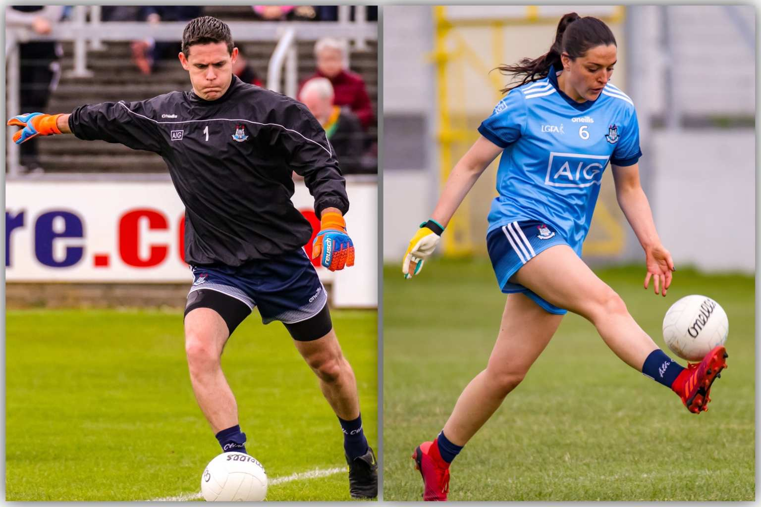 Dublin's Stephen Cluxton (L) and Sinéad Goldrick (R) are nominated for the RTÉ Sportsperson of the Year Award