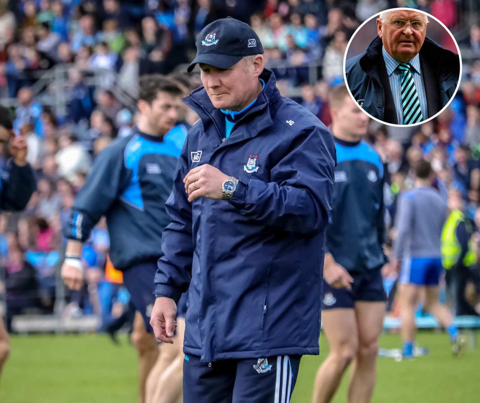 Dublin Chairman Sean Shanley inset was shocked to hear of Jim Gavin departure as Dublin senior manager.