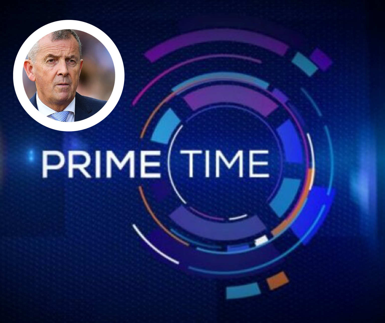 The Prime Time Programme Logo and insert Dublin Chief Executive John Costello who has questioned the Standards adopted by the RTÉ programme