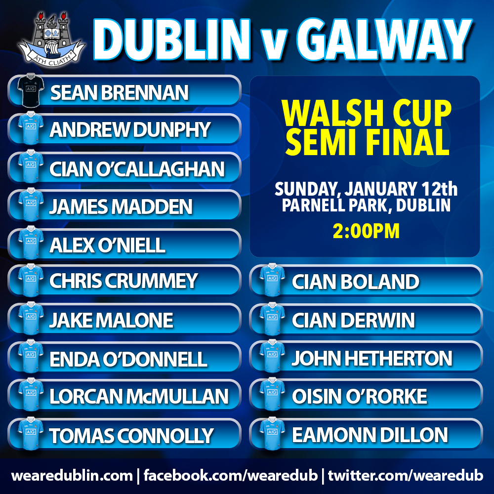 Walsh Cup Semi Final - Dublin v Galway