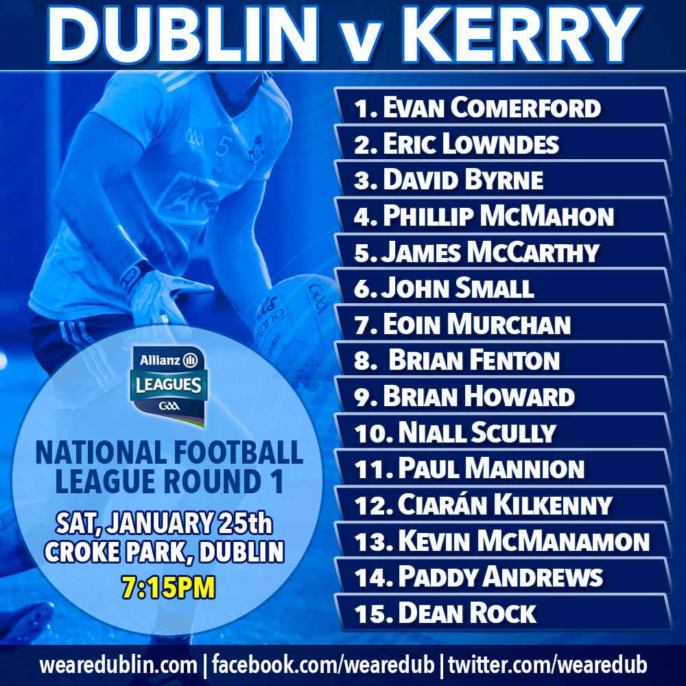Allianz League - Dublin v Kerry