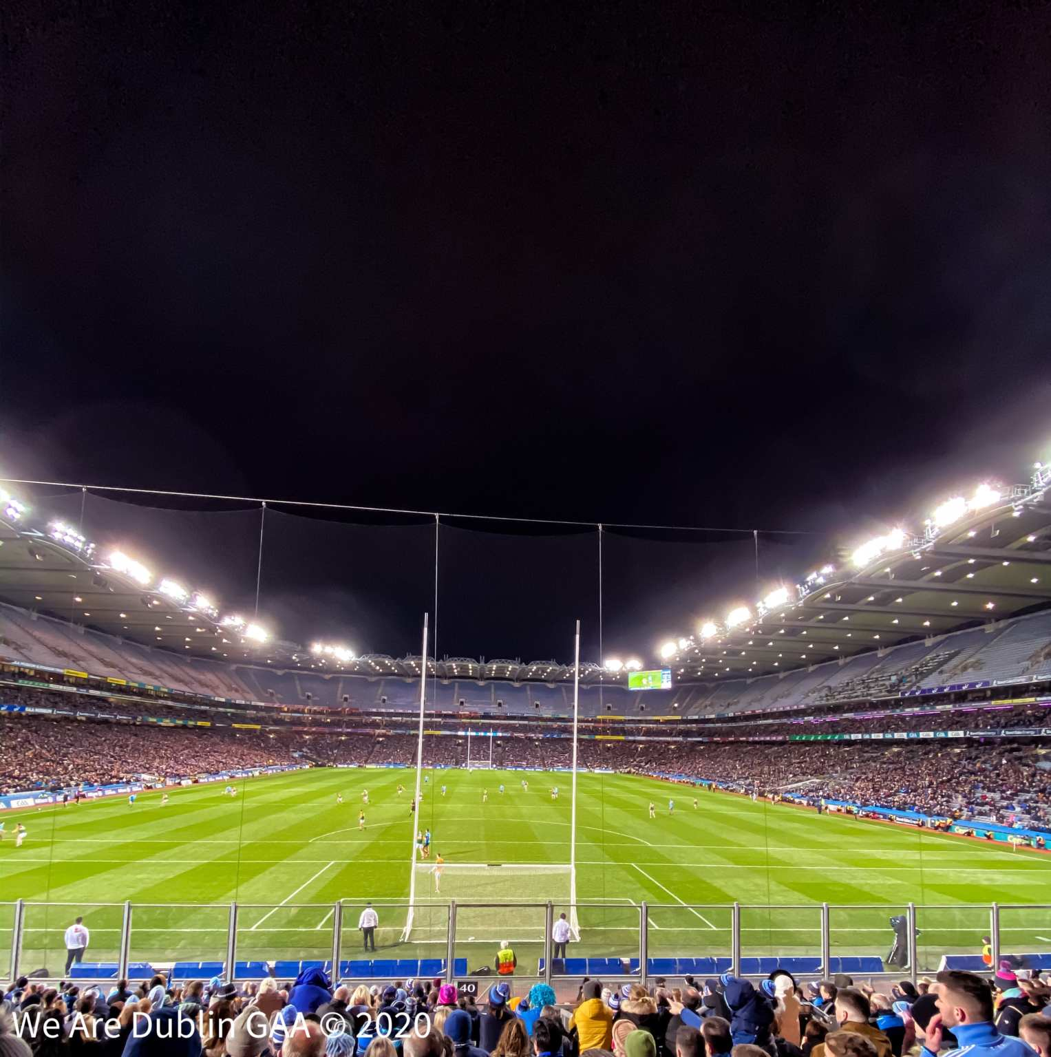 A view of the Croke Park Pitch from Hill 16 during the Allianz NFL game between Dublin and Kerry