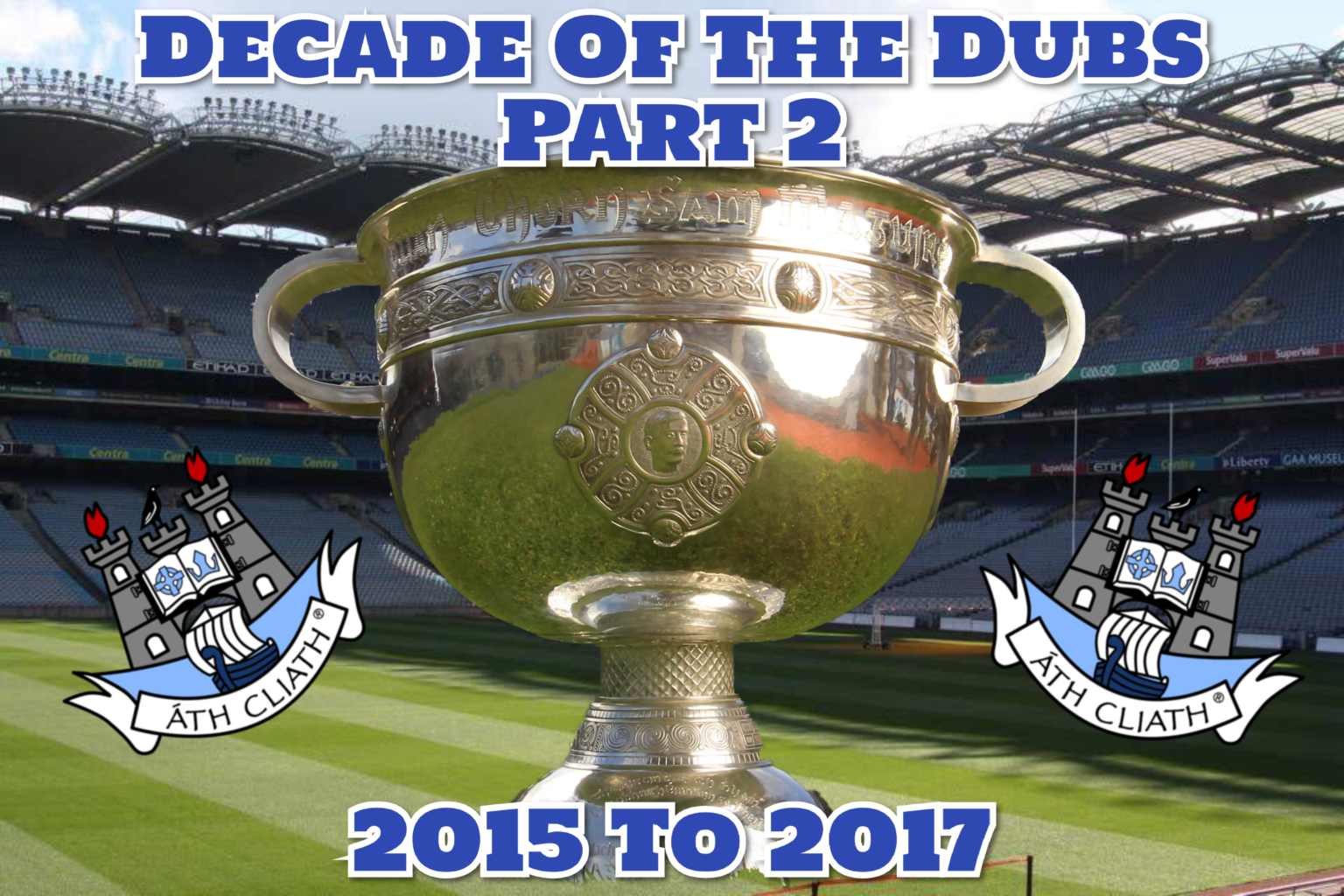Poster with the text Decade of the Dubs Part two and 2015 to 2017