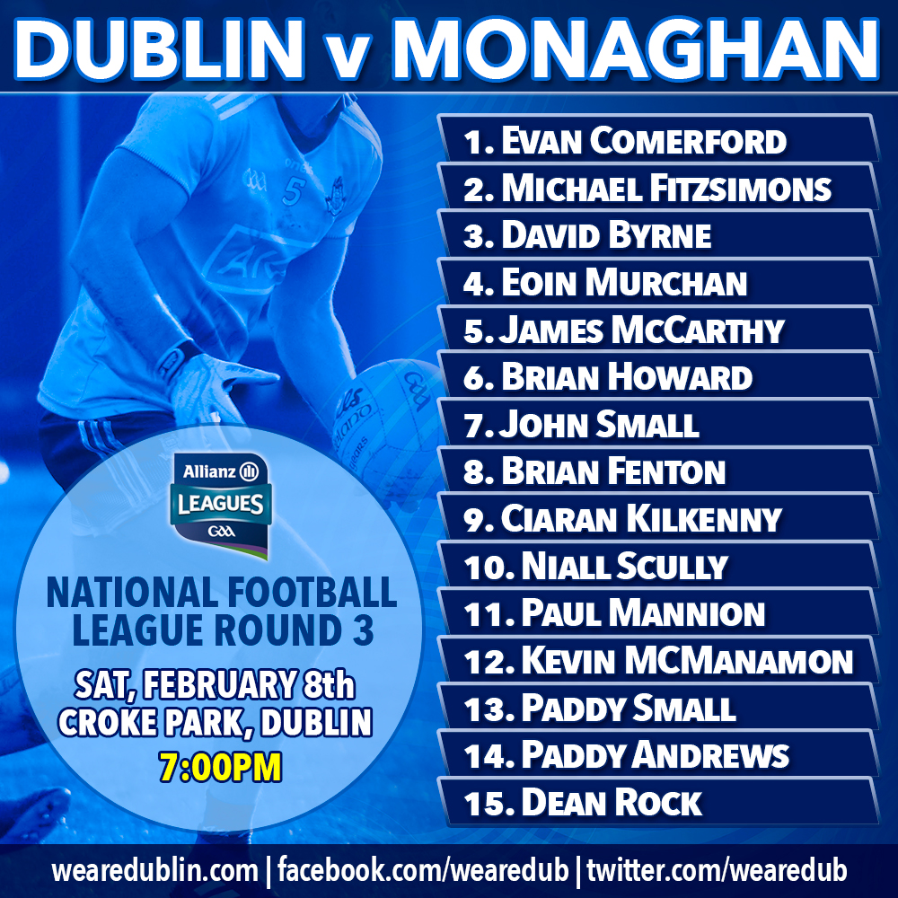 Monaghan - Dublin's next National League opponents