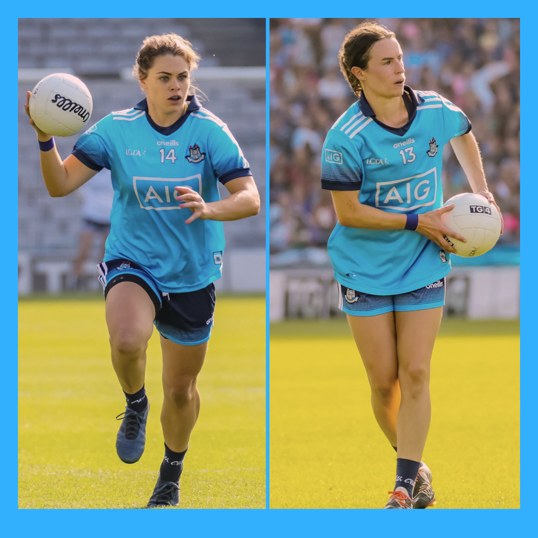 Noelle Healy (L) and Sinead Aherne (R) return to the Dublin Panel ahead of this Sunday's Lidl NFL game against Waterford.