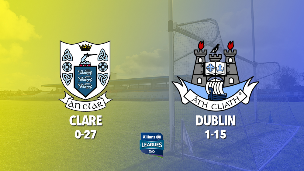 Clare beat Dublin today to advance to the League knockouts