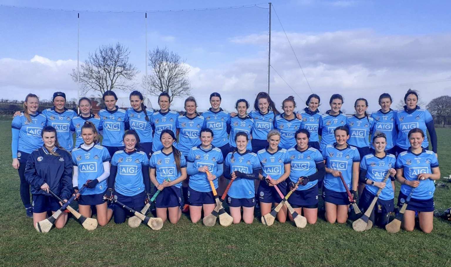 The Dublin Camogie Intermediate Team who play Laois in a vital league game
