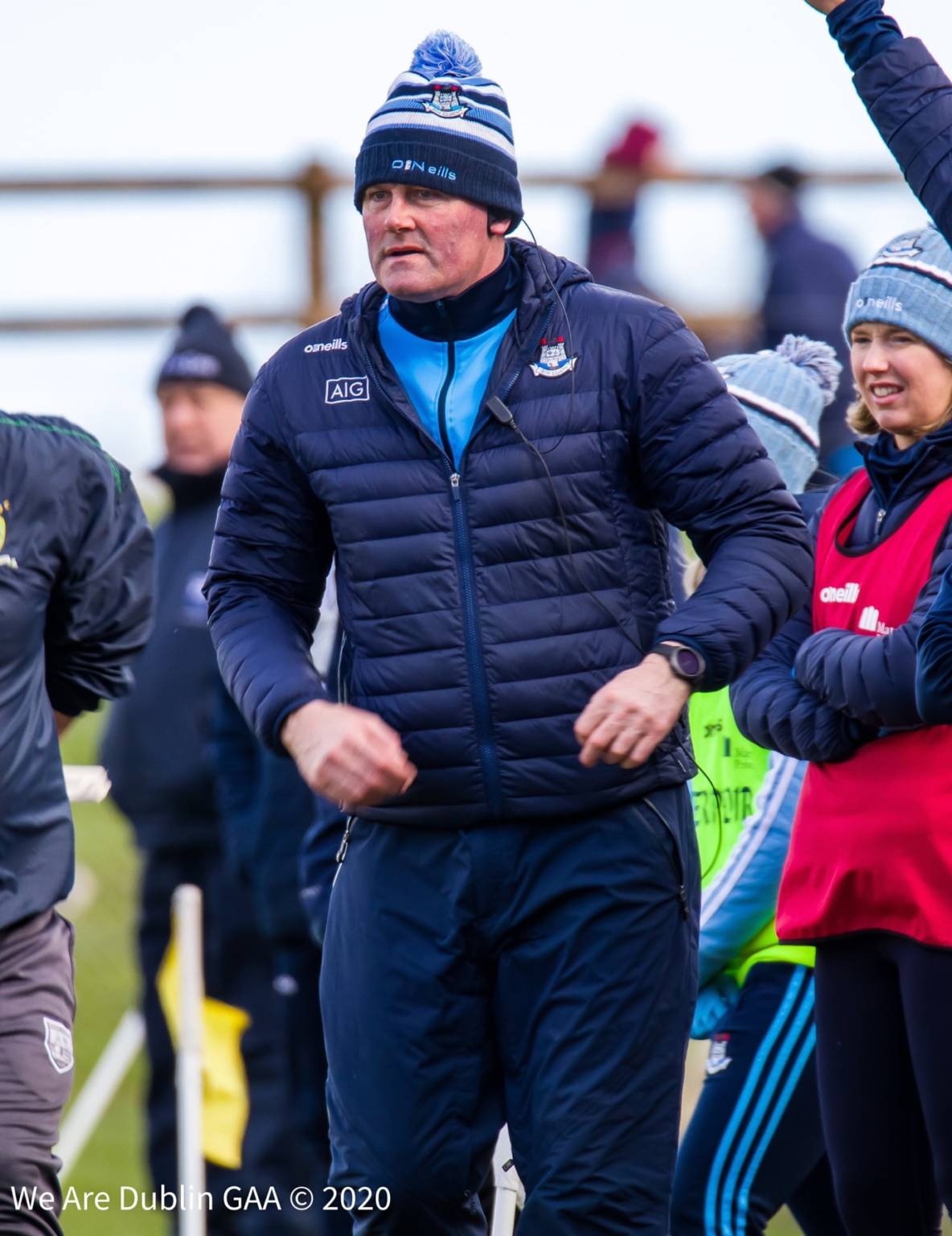 Dublin manager Mick Bohan watching his team from the sideline during a game, Bohan believes the 2020 championship should be scrapped if it ends up a knockout competition in October.