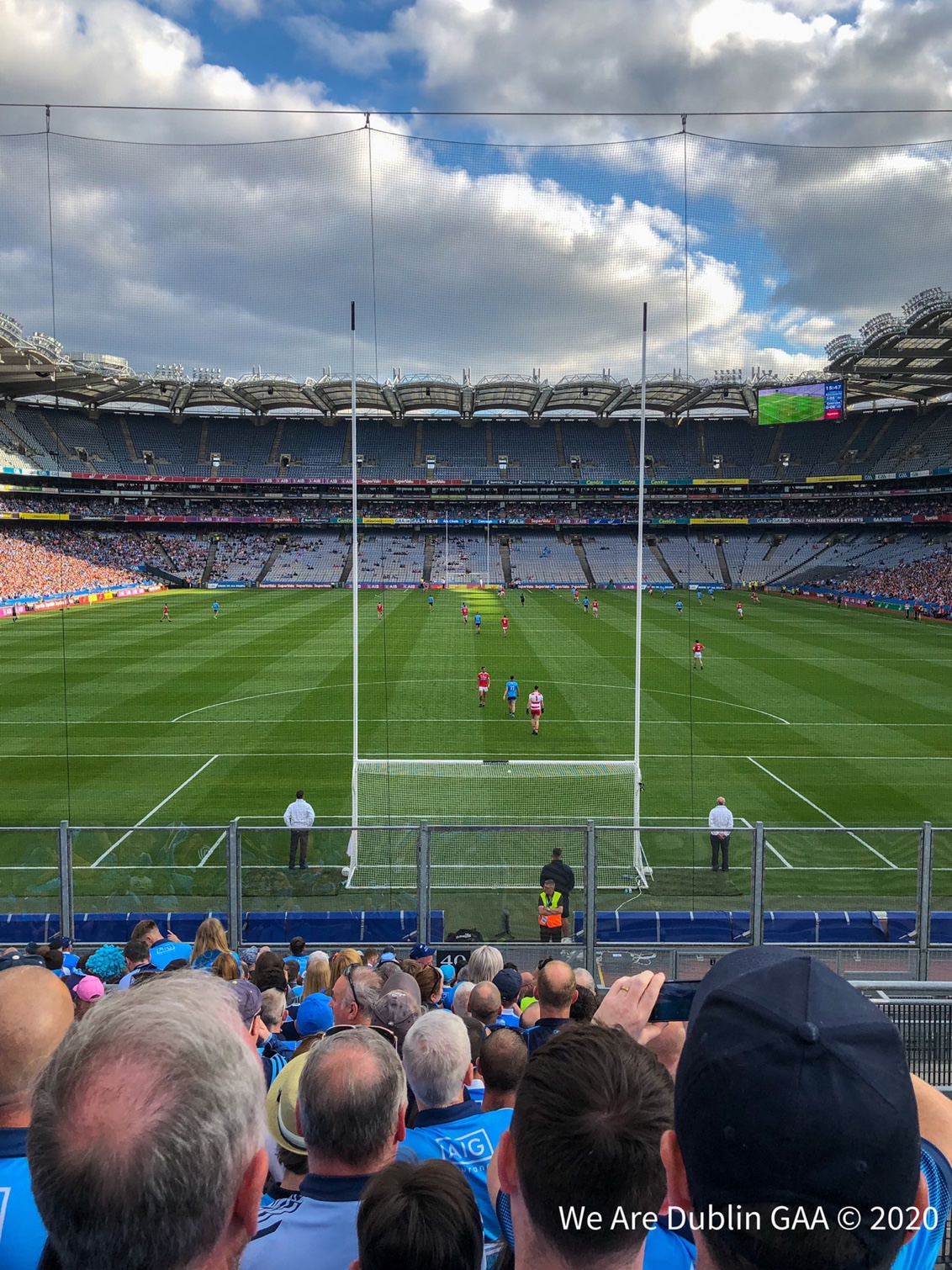 Supporters look on from the Hill 16 terrace, the GAA might install temporary seats on the Hill 16 terrace to allow supporters attend games later in the summer.