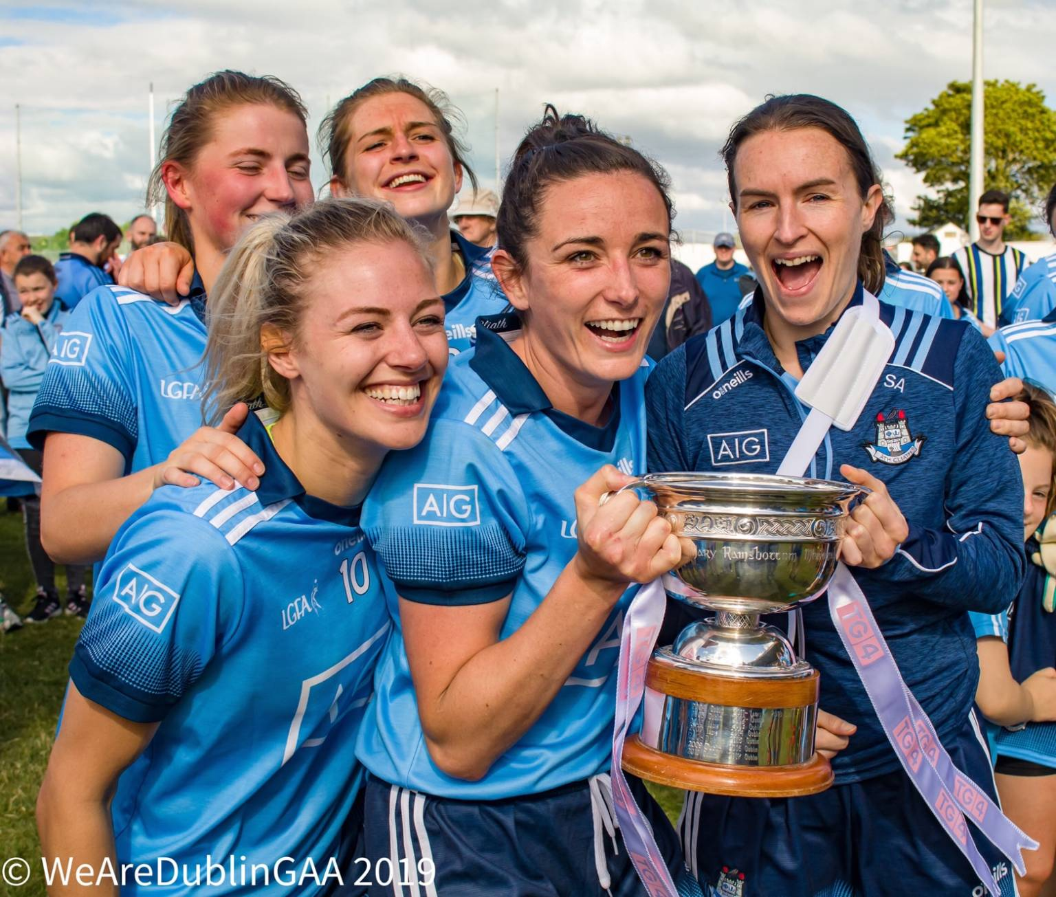 Dublin players celebrating their Leinster championship win, the 2020 Leinster Junior and Intermediate championships have been cancelled due to Covid-19.