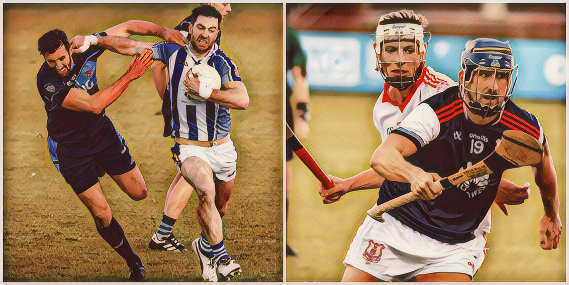 A Dublin club footballer on the left and a club hurler on the right in action during their respective club championships, the rescheduled group fixtures for the 2020 Dublin SFC and SHC have been released.