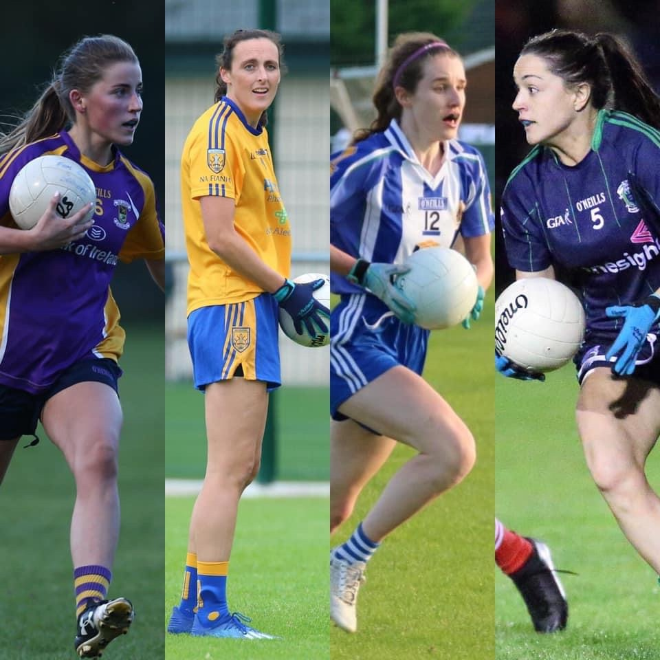 Players from the four teams who will contest the Dublin LGFA Senior club championship semi finals after last weeks group and finals results
