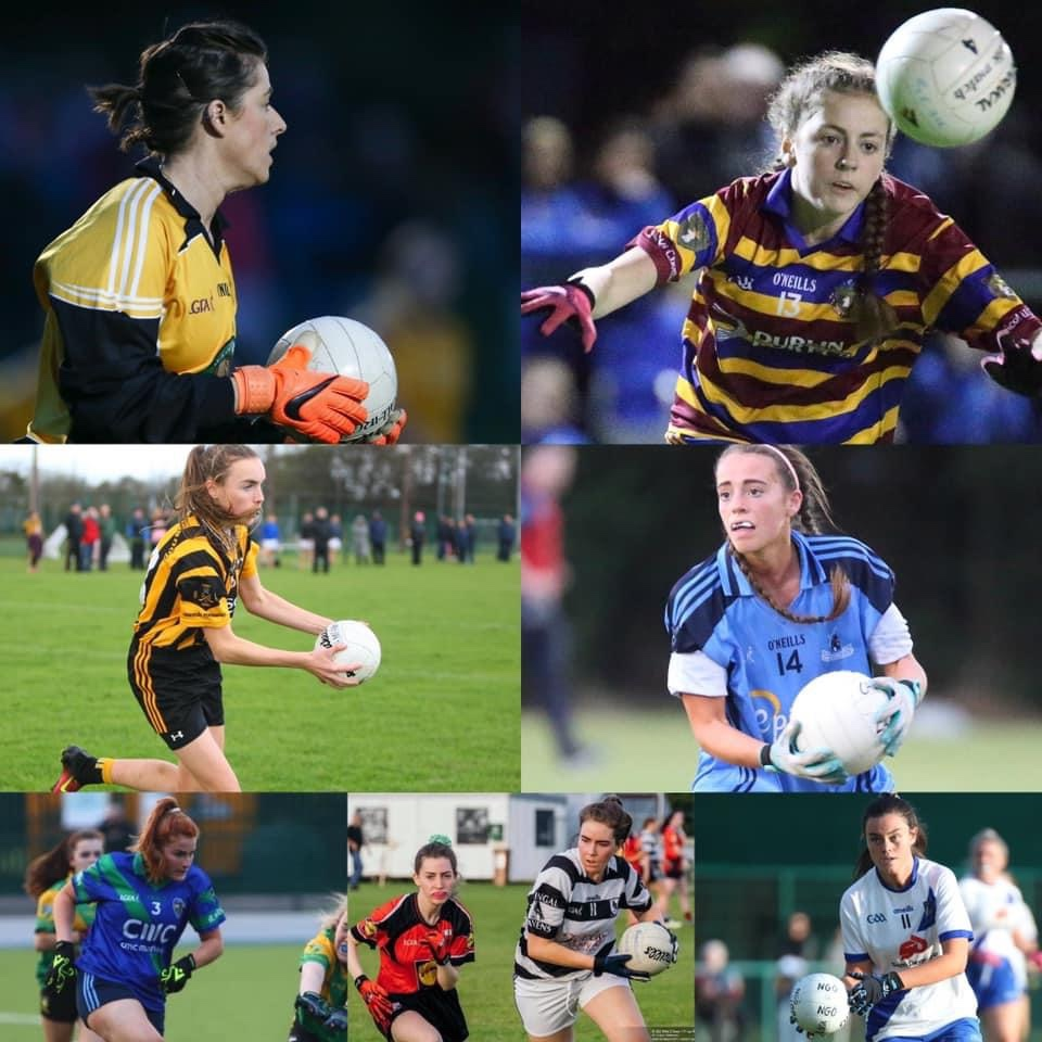 Images of players taking part in tonight's Dublin LGFA Championship and shield finals