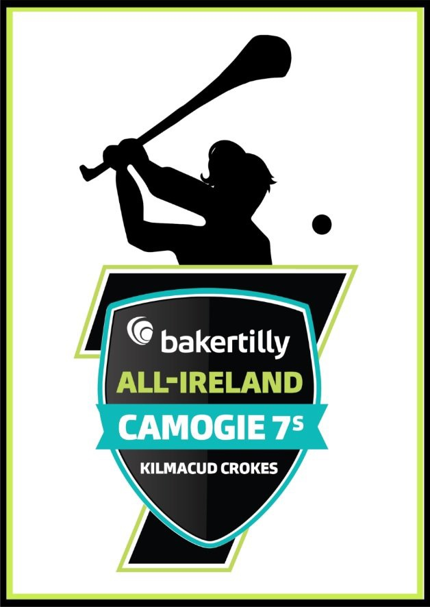 Promotional poster for the Kilmacud Crokes Camogie 7's which take place this weekend.