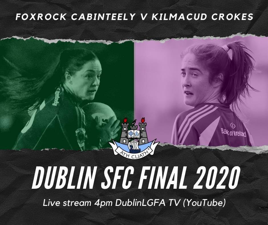Promotional poster for the 2020 Dublin LGFA Senior Club Championship Final