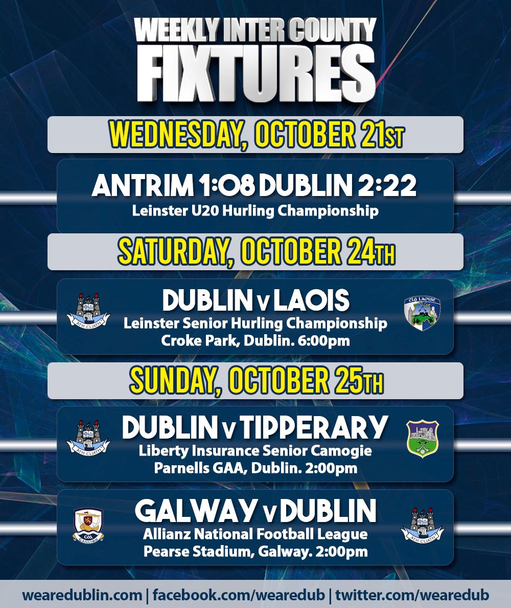 Inter County Fixtures