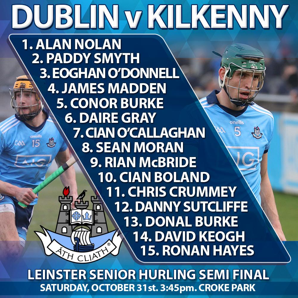 Dublin Senior Hurlers - Leinster Semi Final