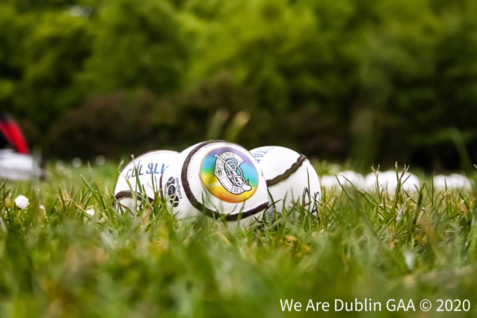 The sliotars on a grass pitch with the Camogie Association on them, the Association has announced the launch of its first Disability Inclusion Policy