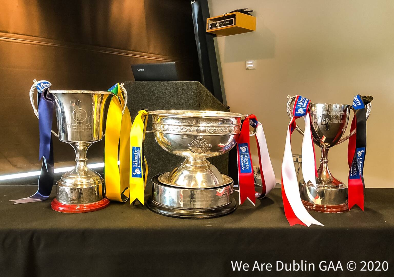 The three All Ireland trophys thats teams will be playing for in the All Ireland Camogie Championships