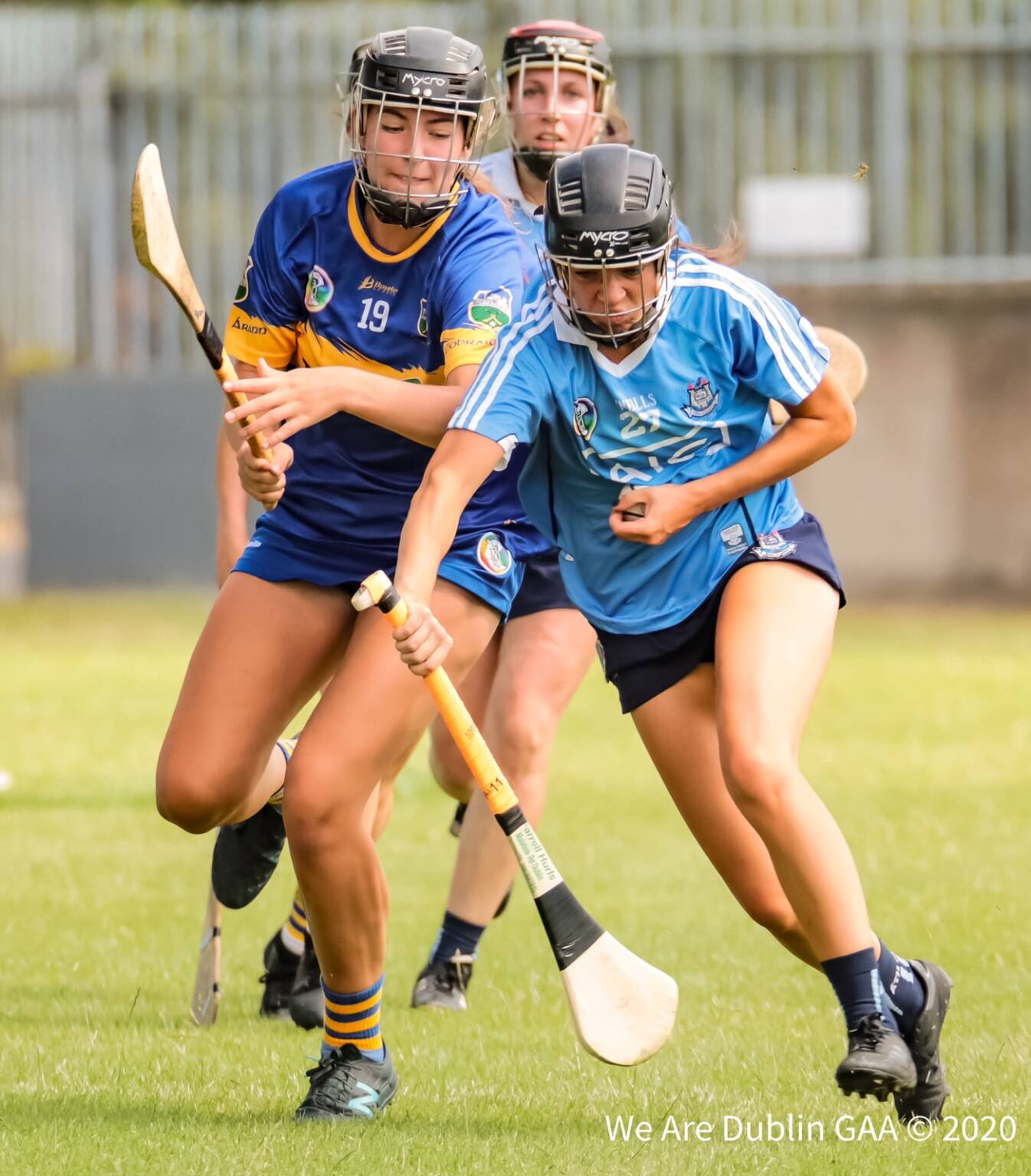 A Dublin and Tipperary Camogie player battling for the ball, the Dublin Senior Camogie team has been named for the meeting between the two teams in this year's championship