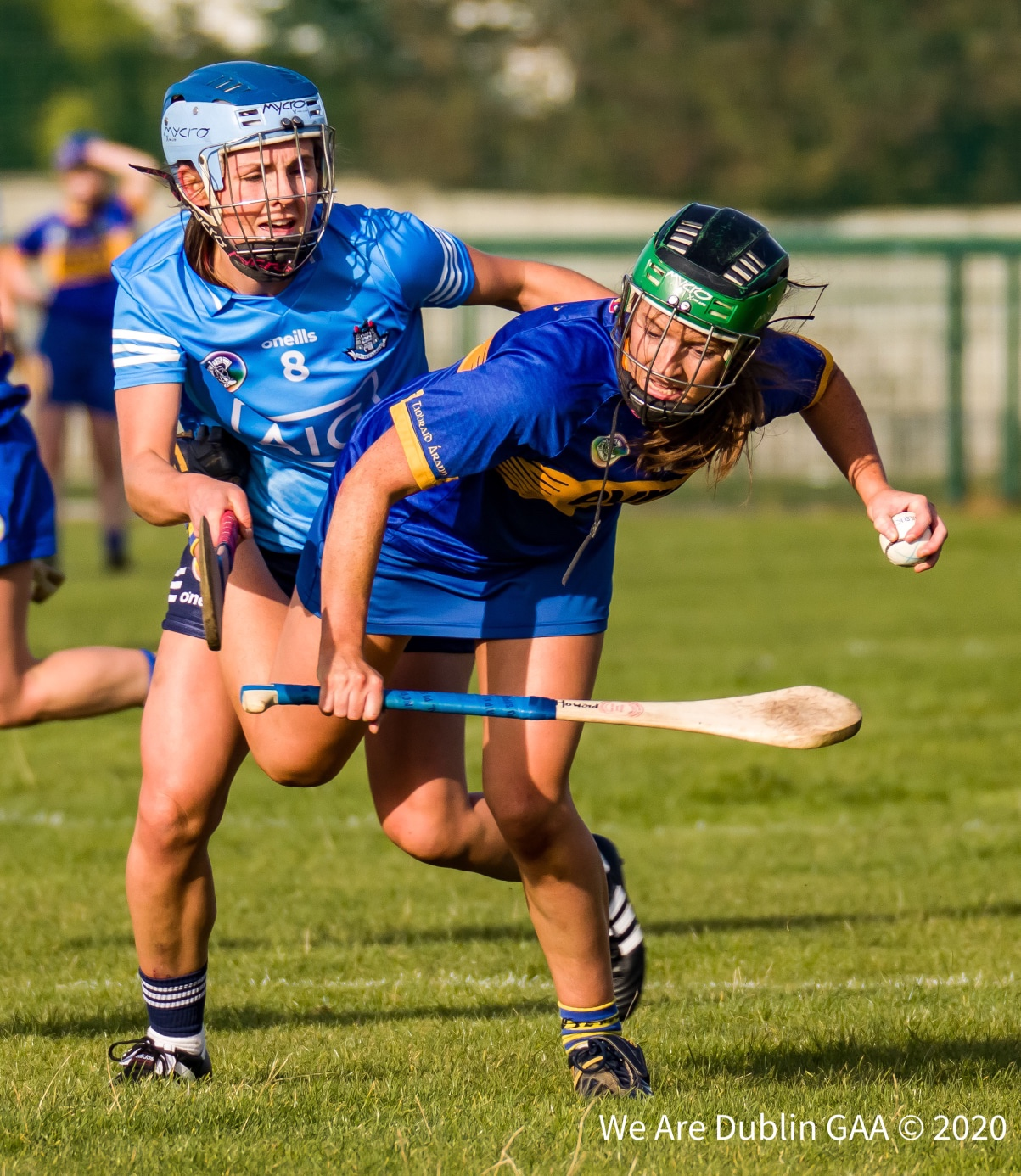 Dublin Captain Hannah Hegarty tackles a Tipperary player during their All Ireland clash, the Dublin Seniors showed plenty of promise going forward despite today's defeat