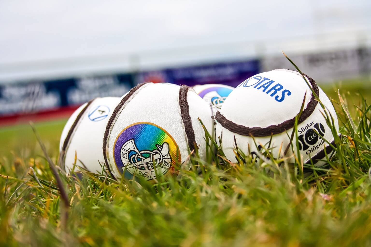 Three sliotars with the Camogie Association crest on them, the 2020 Annual congress took place this weekend where Kildare native Hilda Breslin was elected Uachtarán Tofa