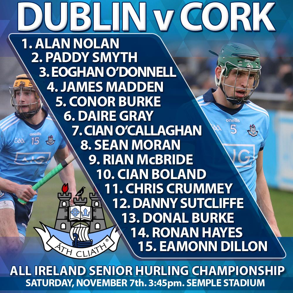 Dublin v Cork - All Ireland Senior Hurling Championship