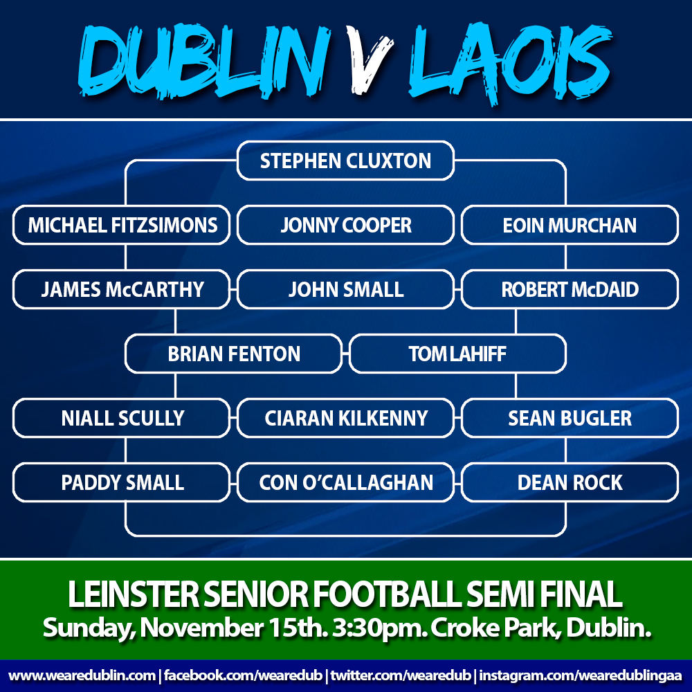 Dublin v Laois - Leinster Senior Football Semi Final