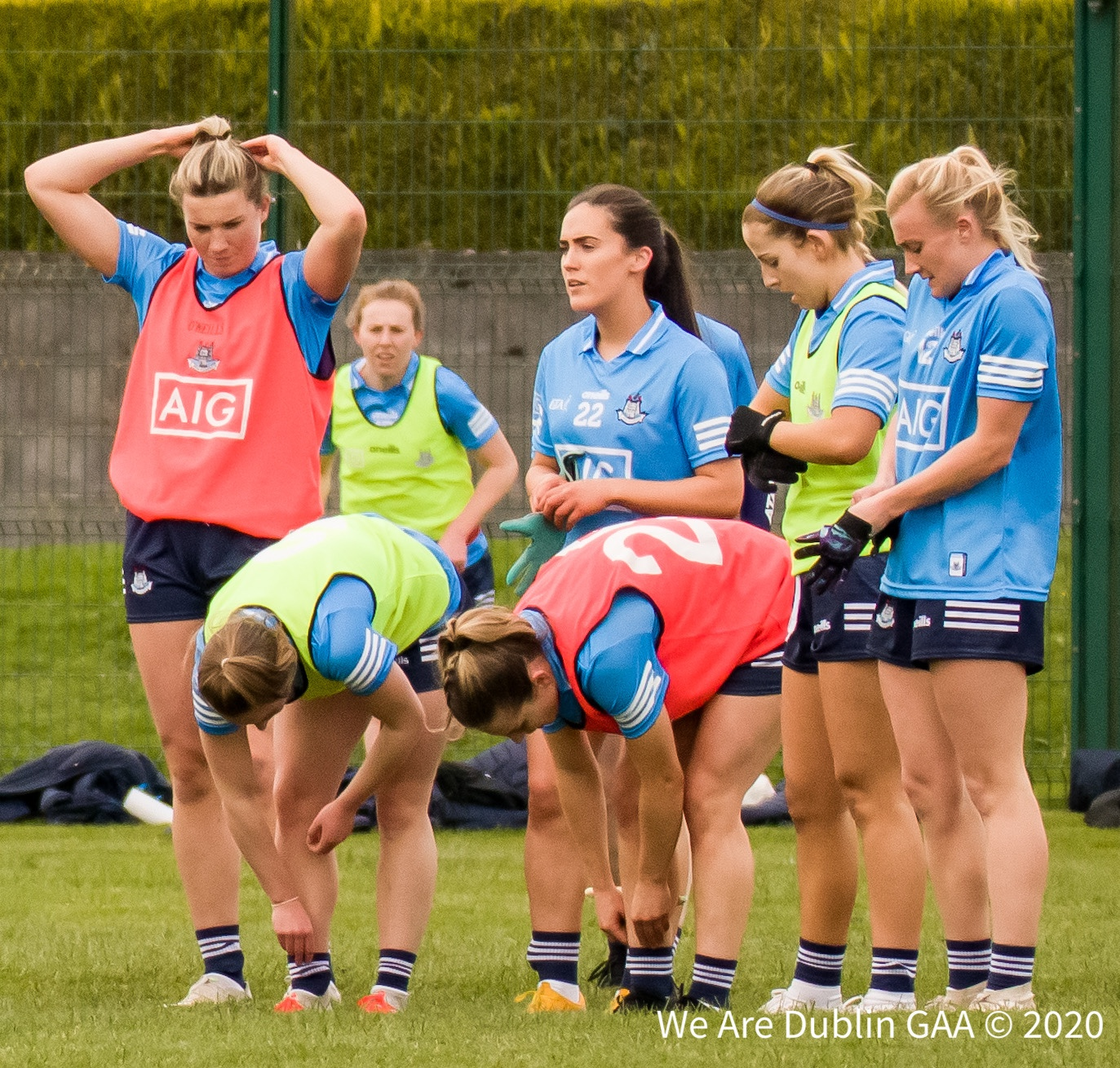 Dublin ladies footballers gather together before a game, manager Mick Bohan has named his side for their semi final against Armagh with Goldrick and McGrath returning after injury